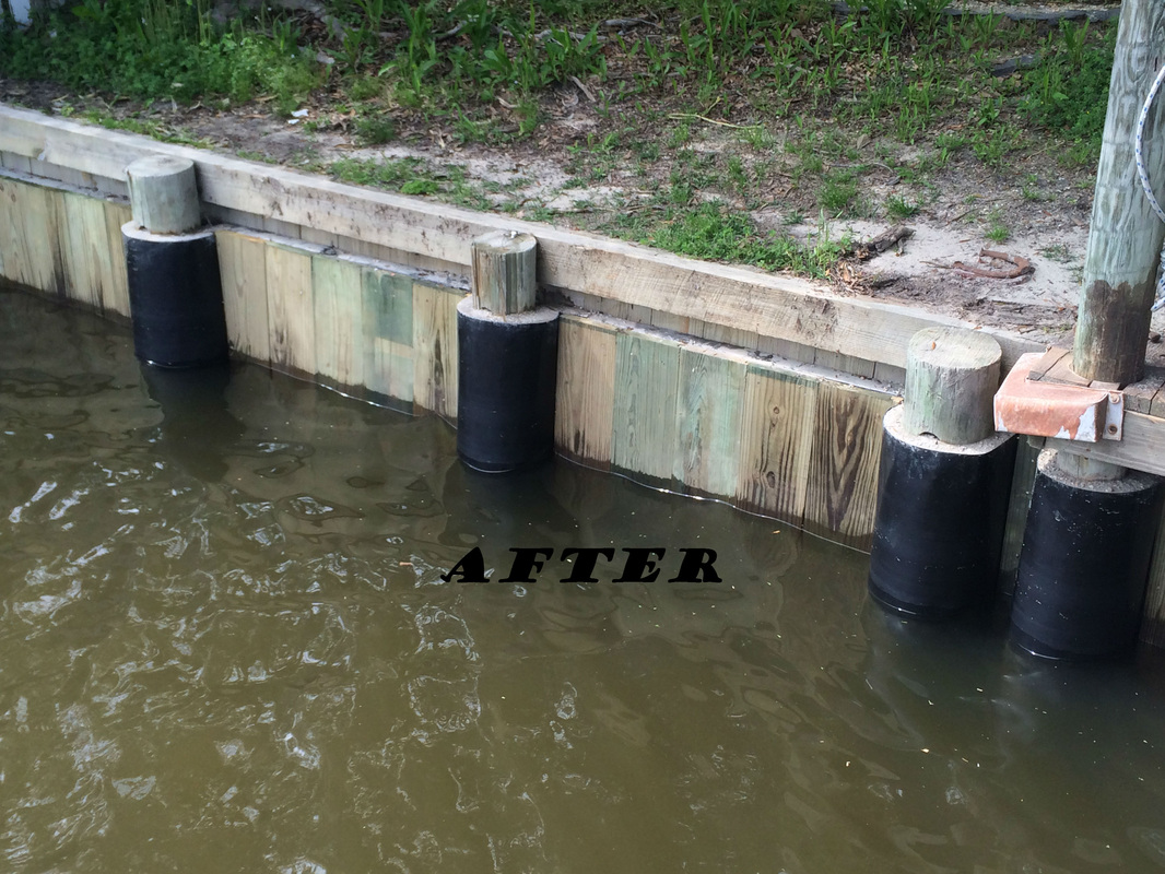 Piling repair dock repair marine construction la ms for Cost of pilings for foundations